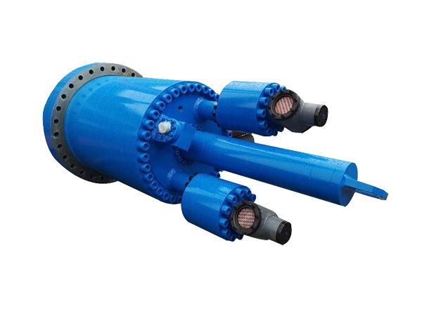 废旧钢渣热熔压力机油缸(含充液阀)